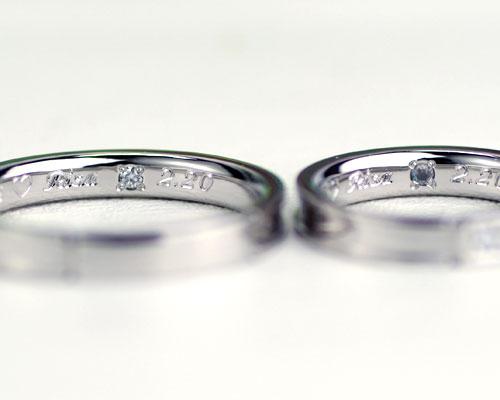 結婚指輪の内側刻印